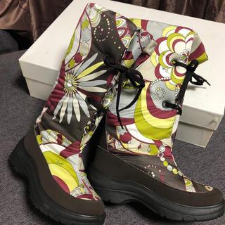 エミリオプッチ(EMILIO PUCCI)のプッチ ブーツ サイズ36 美品(ブーツ)