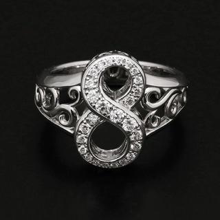 クロムハーツ(Chrome Hearts)のノンブル指輪リング8ゆきざき(リング(指輪))