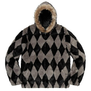 シュプリーム(Supreme)のL Supreme Diamond Faux Fur Jacket(毛皮/ファーコート)