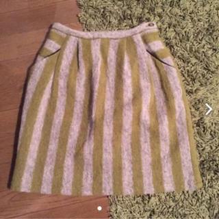 フィグロンドン(fig London)のフィグロンドン  ストライプ ウール(ひざ丈スカート)