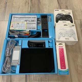 ウィー(Wii)のWii 本体 一式 クラシックコントローラPROセット(家庭用ゲーム本体)
