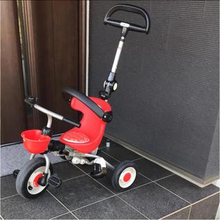 【室内保管品】アイデス コンポタウン レッド  【折畳み式三輪車】(三輪車)