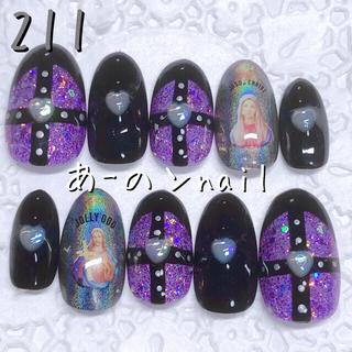 送料&カラー変更1色無料«211»ジェルネイルチップ♡*.