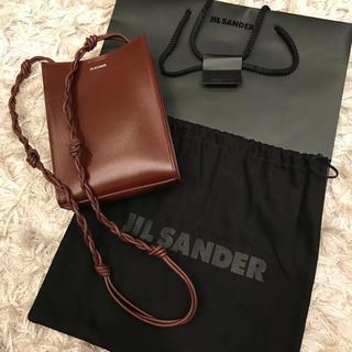 ジルサンダー(Jil Sander)のJIL SANDER TANGLE SM ジルサンダー タングル  ブラウン(ショルダーバッグ)