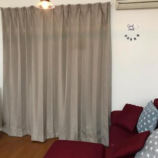 ムジルシリョウヒン(MUJI (無印良品))の美品 ベージュ カーテン 200×  205(カーテン)