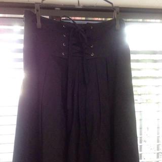 バーバリー(BURBERRY)の透け感チェック紺のお嬢様スカート(ひざ丈スカート)