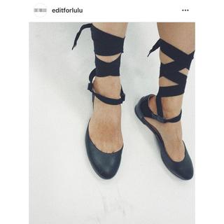 エディットフォールル(EDIT.FOR LULU)のEdit for lulu購入 ROCHS ロシャス リボンバレエシューズ 36(バレエシューズ)