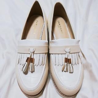 ランダ(RANDA)のRANDA ランダ ローファー 白 ホワイト 春(ローファー/革靴)