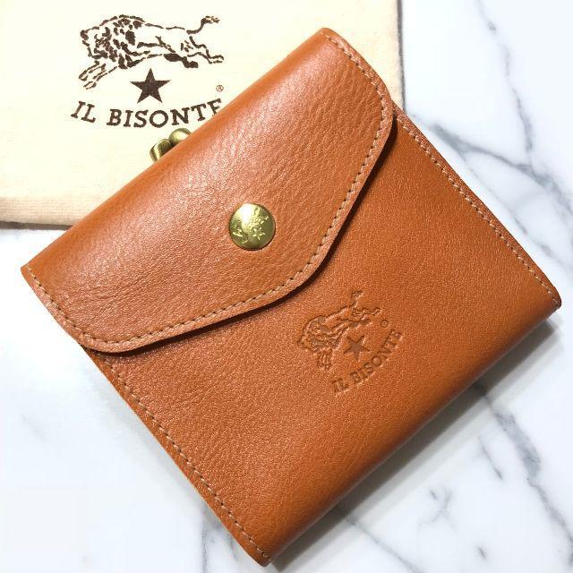 147f61cb4f29 IL BISONTE(イルビゾンテ)の新品 イルビゾンテ ガマ口 財布 ヤキヌメ ハンドメイド 二つ折り財布