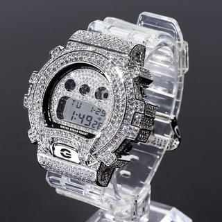 ジーショック(G-SHOCK)のカスタム G-SHOCK スケルトンベルト DW6900mr ホワイトゴールド(腕時計(デジタル))