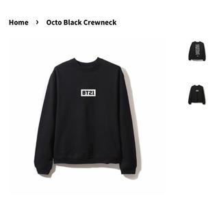 ボウダンショウネンダン(防弾少年団(BTS))のbt21club  octo black crewneck(スウェット)