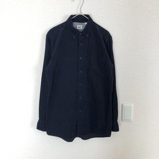 ユニクロ(UNIQLO)のユニクロ コーデュロイシャツ ネイビー メンズ M(シャツ)