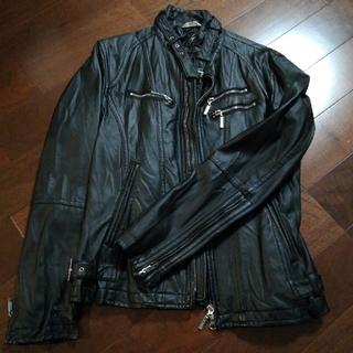 エイエスエム(A.S.M ATELIER SAB MEN)のライダースジャケット 黒(ライダースジャケット)