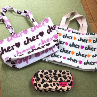 シェル(Cher)の【お値下げ】Cherのトートバッグとヒョウ柄のポーチ(トートバッグ)
