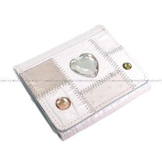 【ミケランジェロ】三つ折り財布★ミニ財布★送料無料★ホワイト3(財布)