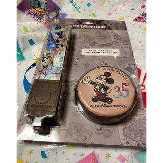 ディズニー(Disney)のディズニーランド   ミッキー   カメラストラップ 35周年(ネックストラップ)