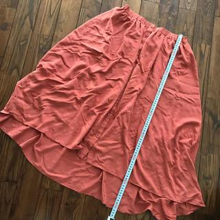 イッカ(ikka)のikka オレンジのフィッシュテールスカート(ロングスカート)