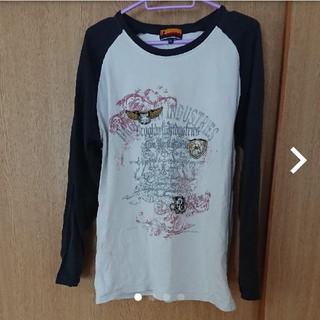 ブルックリンインダストリーズ(BROOKLYN INDUSTRIES)の紺白ロンT(メンズXL)(Tシャツ/カットソー(七分/長袖))