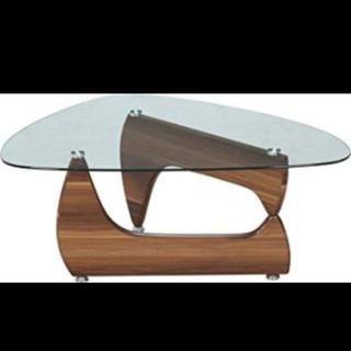 ガラスセンターテーブル ルークライトウォルナット(ローテーブル)