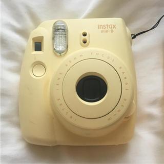 フジフイルム(富士フイルム)のチェキ 本体 instax mini 8 黄色 イエロー(フィルムカメラ)