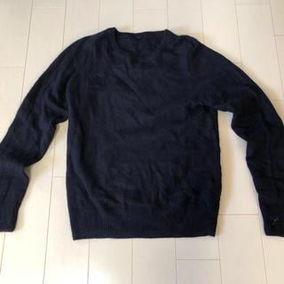 ムジルシリョウヒン(MUJI (無印良品))の無印 カシミヤ セーター ネイビー(ニット/セーター)