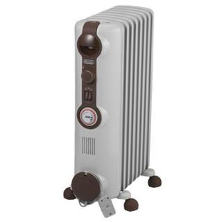 デロンギ(DeLonghi)のデロンギ オイルヒーター 1200Wタイプ 8~10畳用 ホワイト+ブラウン(オイルヒーター)