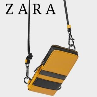 ザラ(ZARA)のZARA レザー 携帯電話ケース クロスボディバッグ ミニショルダーバッグ  (ボディーバッグ)