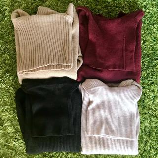 ローリーズファーム(LOWRYS FARM)のプロフ見て下さい様専用 タートルネックセーター  セーター 4点セット(ニット/セーター)
