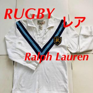 ポロラグビー(POLO RUGBY)のRUGBY Ralph Lauren ラガーシャツ M 七分 綿 NY購入 レア(ポロシャツ)