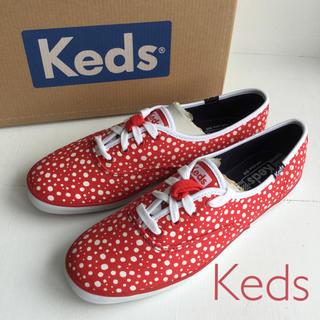 ケッズ(Keds)のKeds♪ レディース ドット柄スニーカー US8(25cm) レッド/ホワイト(スニーカー)