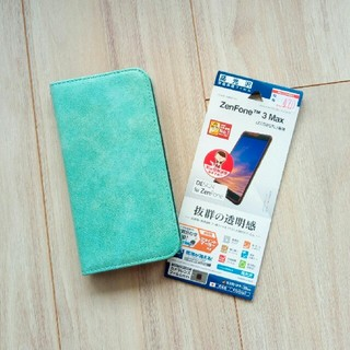 エイスース(ASUS)のzenfone3max(zc553)カバー&おまけ液晶フィルム(Androidケース)