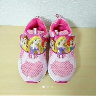 ディズニー(Disney)の新品★15㎝プリンセスマジックテープ スニーカー 靴 シューズ(スニーカー)