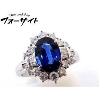 (#15) Pt900■サファイア 2.49ct ダイヤ 0.86ct リング (リング(指輪))
