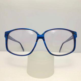 シルエット(Silhouette)のシルエット ビンテージ サングラス 伊達眼鏡 新品 デッドストック 青 セル(サングラス/メガネ)