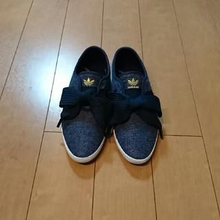 アディダス(adidas)の★adidas★  リボンスニーカー 23㎝(スニーカー)