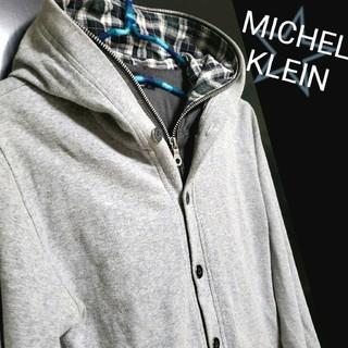 エムケーミッシェルクランオム(MK MICHEL KLEIN homme)の☆状態良好☆MICHEL KLEIN homme フェイクレイヤードパーカー M(パーカー)