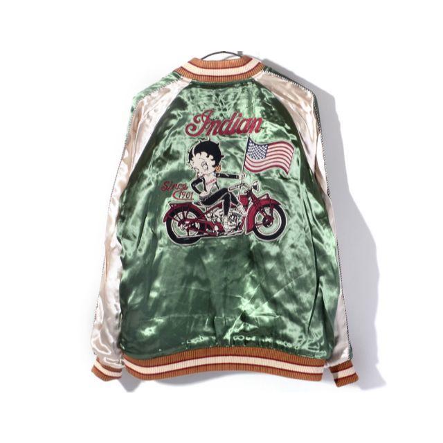 Indian(インディアン)のベティブープ × インディアンモトサイクル コラボ リバーシブル スカジャン メンズのジャケット/アウター(スカジャン)の商品写真