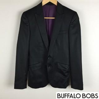 バッファローボブス(BUFFALO BOBS)のバッファローボブズ テーラードジャケット ブラック光沢 サイズ1(テーラードジャケット)