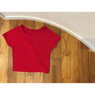 ザラ(ZARA)のZARA ザラ ソフトTシャツ 赤 S(Tシャツ(半袖/袖なし))