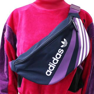 アディダス(adidas)のネイビー/パープル   ウエストバッグ    アディダスオリジナルス(ウエストポーチ)