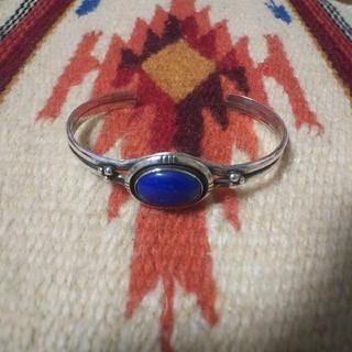 インディアン(Indian)のインディアンジュエリー ナバホ族sterling ラピスラズリ シルバーバングル(バングル/リストバンド)