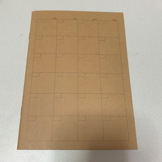 ムジルシリョウヒン(MUJI (無印良品))の無印 ノート マンスリーノート スケジュール帳(カレンダー/スケジュール)