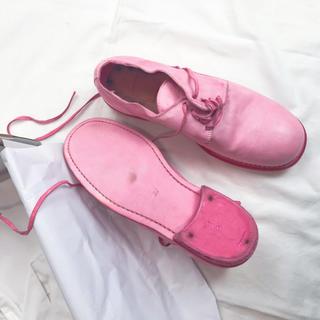 グイディ(GUIDI)のGuidi 37 ピンク(ローファー/革靴)