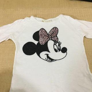 ザラ(ZARA)のZARA ZARA キッズガール  トップス ロングTシャツ ミニーマウス(Tシャツ/カットソー)