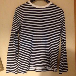 ユニクロ(UNIQLO)のボーダー カットソー(Tシャツ(長袖/七分))