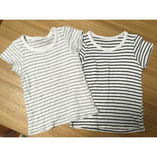 シマムラ(しまむら)のボーダーシャツ2枚セット(下着)