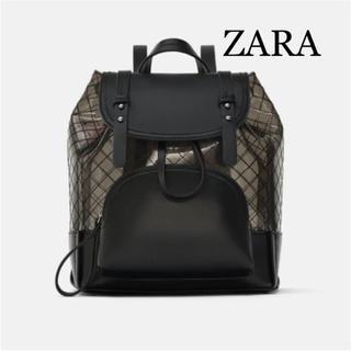 ザラ(ZARA)の新品タグ付き ZARA ザラ キルティング クリア リュック(リュック/バックパック)