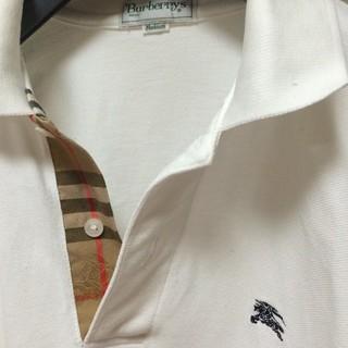 バーバリー(BURBERRY)の美品 ノバチェックシャドーホース バーバリー 白 長袖  シャツ 長袖ポロシャツ(シャツ)