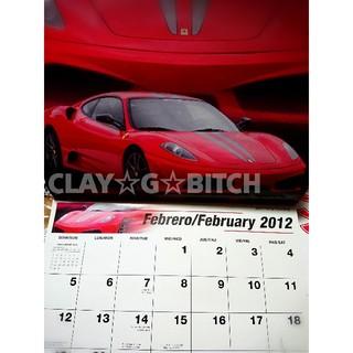 【送料無料】12ページポスター カレンダー フェラーリ ランボルギーニ(その他)
