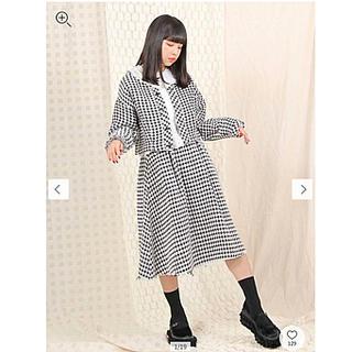 メリージェニー(merry jenny)の新品タグ付き💓merry jenny 透かしチェックフレアスカート(ひざ丈スカート)